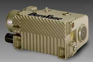rotary vane vacuum pumps, single-stage, dry or oil-lubricated