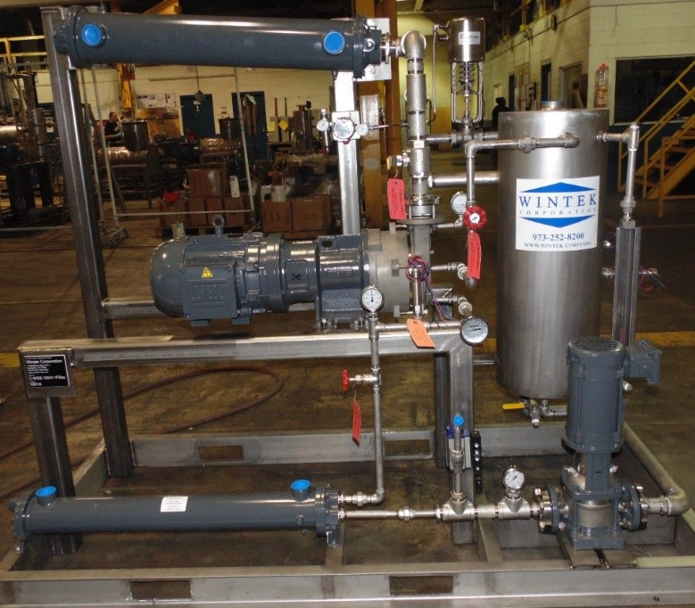 vacuum drying, condenser liquid ring vacuum system with a transfer pump