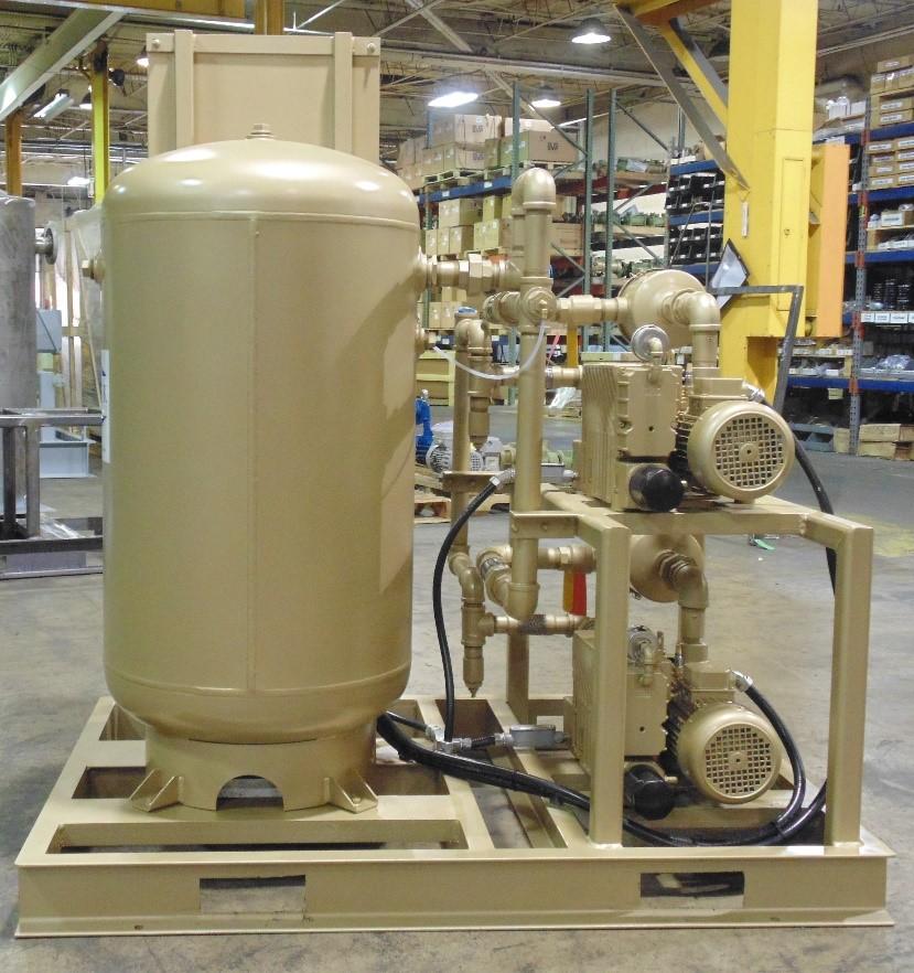 vacuum evacuation duplex rotary vane vacuum system