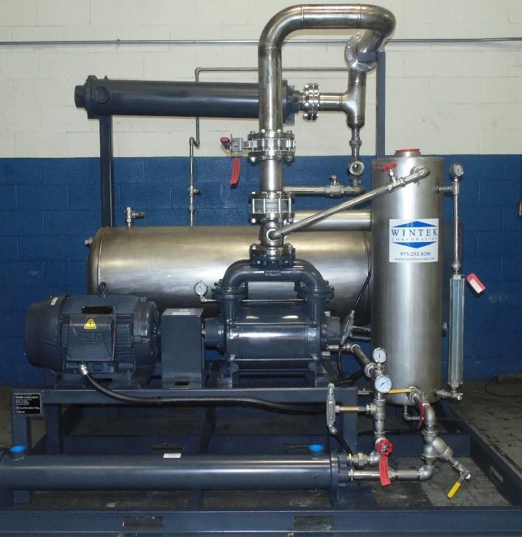 vacuum filtration, condenser, receiver tank, liquid ring vacuum system
