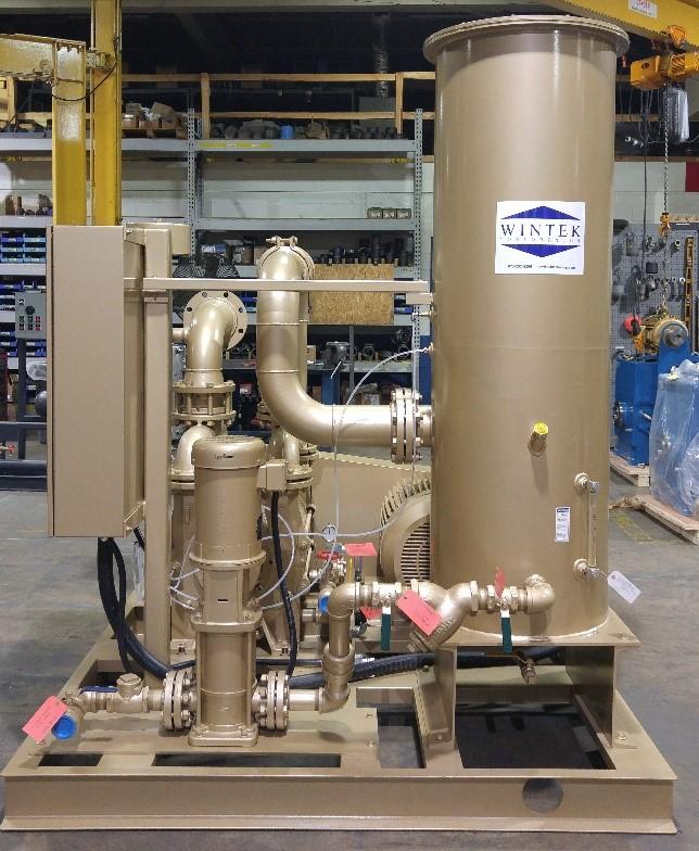vacuum hold down liquid ring vacuum system, high capacity