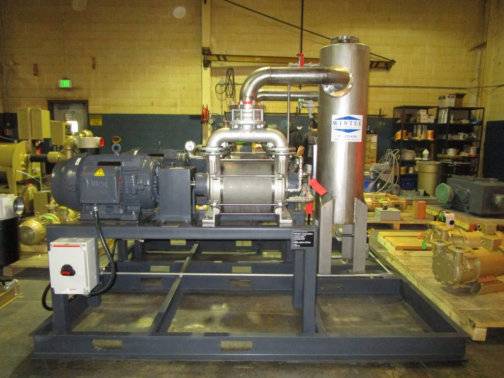 liquid ring vacuum system, duplex, high-capacity in stainless-steel materials